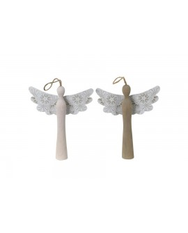 ADORNO ANGEL MAD METAL 2PC 15X2.8X18.5
