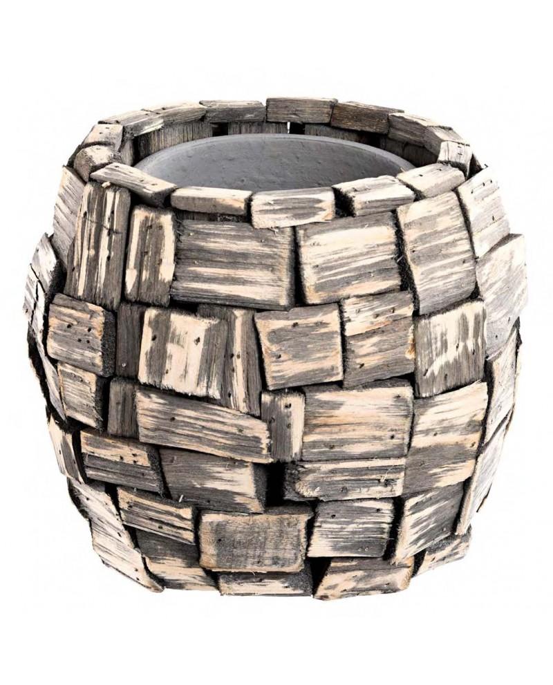 Comprar macetero cer mica y madera al por mayor online - Maceteros de madera baratos ...