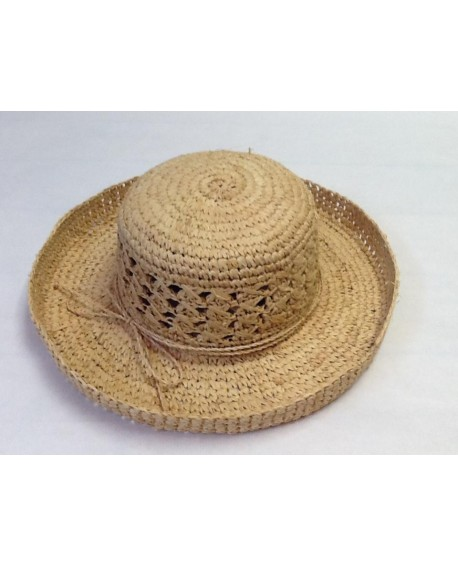 SOMBRERO RAFIA NATURAL AJUSTABLE