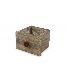 Wooden weedtree drawer 16x14x11cm w/pl