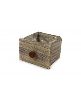 Wooden weedtree drawer 16x14x11cm w/pl
