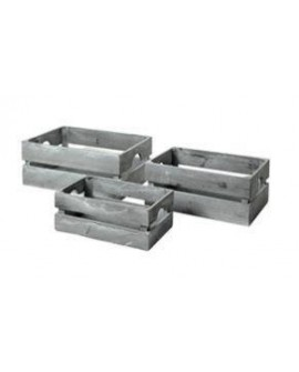 CAJAS MANOR LOW GRIS SET3 48X33X20