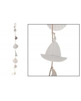 Guirnalda conchas - barcos 91cm