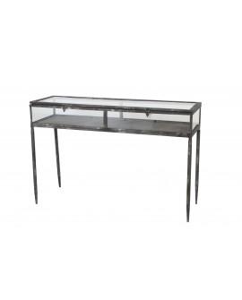 Mueble metal cristal 88x29.5x58.5cm