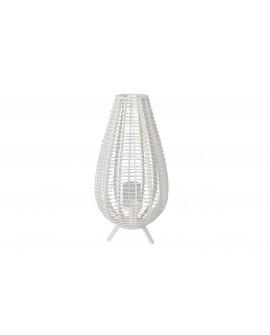 Lamapara cristal pie madera natural 40x40x78cm