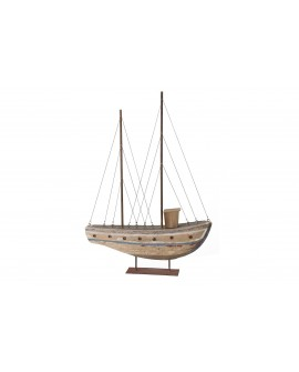 Barco madera paulownia 67x38x9cm