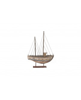 Barco madera paulownia 40x28x8cm