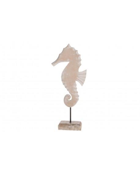 Escultura caballito de mar madera 39x16x5cm