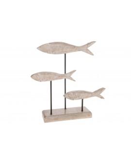 Escultura peces madera 31x23x8cm