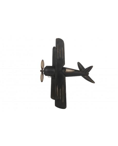 Mural avioneta metal 59.5x48x5cm
