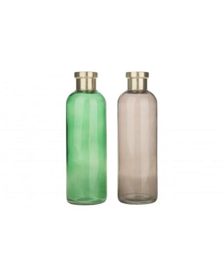Botella cristal 11x11x33cm 1pc mix A/2