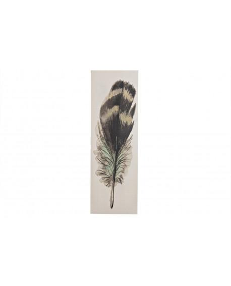 Lienzo pluma impresa 39x118x2.5cm