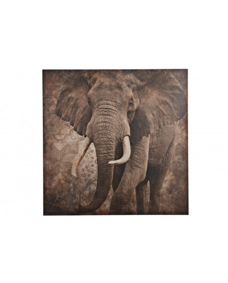 Elefante impreso madera 78x78x3cm