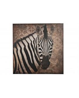 Zebra madera impresa madera 78x78x3cm
