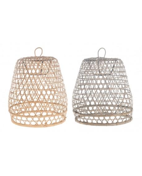 Pantalla lámpara bambú Kurungan 35x35x41cm 1pc mix A/2