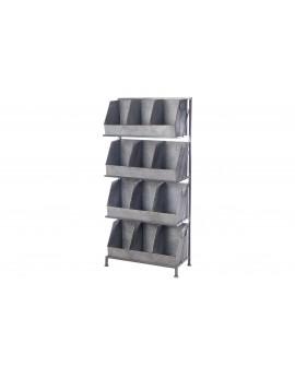 Expositor madera cajas zinc 52x24x119cm