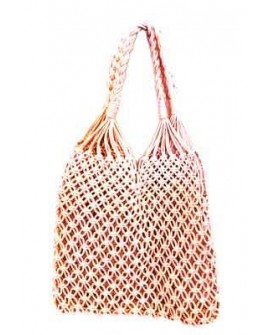 BOLSO RED ALGODON BLANCO 34X50