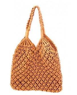 BOLSO RED ALGODON MARRON 34X50
