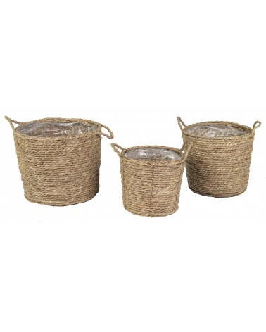 MACETERO SEA GRASS SET3 D16/22/27X10/12/14