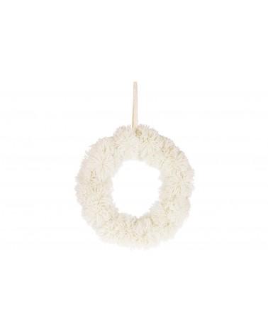 Corona pompones tela ø 28x6cm