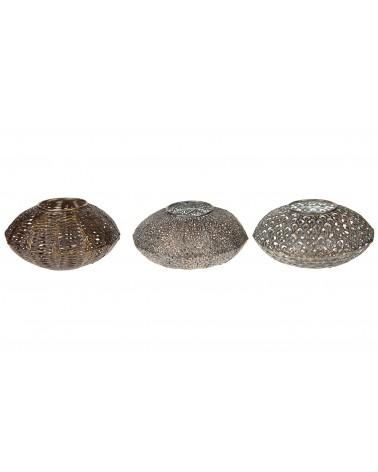 Portavelas metal 17.5x17.5x9.5cm 1pc