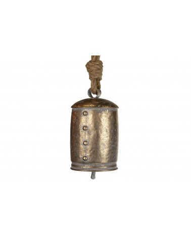 Campana de metal 11.5x11.5x22cm oro viejo