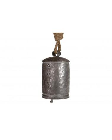 Campana de metal 11.5x11.5x22cm platavieja