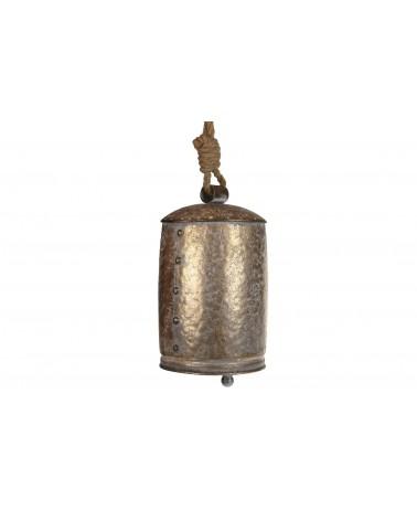 Campana metal 17x16x27cm oro viejo