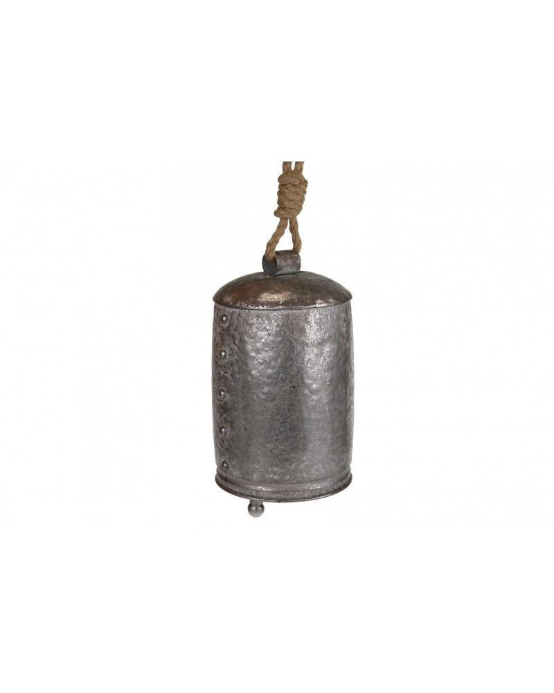 Campana de metal l 17x16x27cm plata vieja