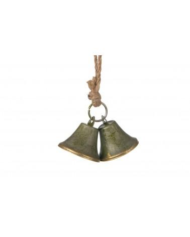 Colgante campana metal  5.5x5.5x4cm bronce