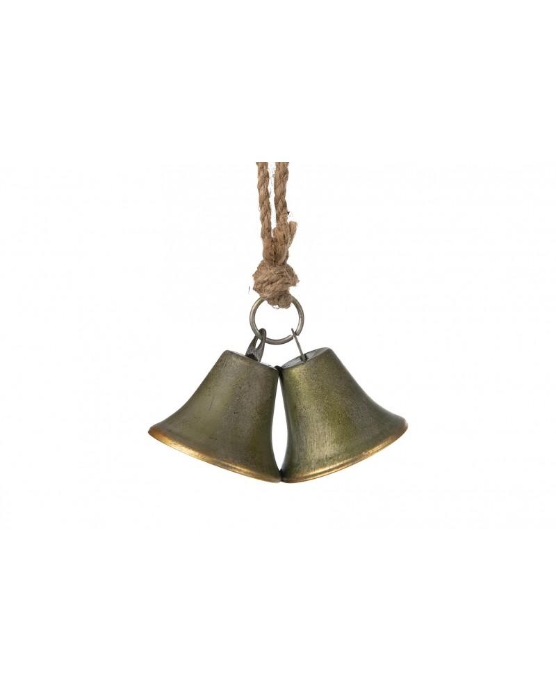 Colgante capana metal 6.5x6.5x5.2cm bronce