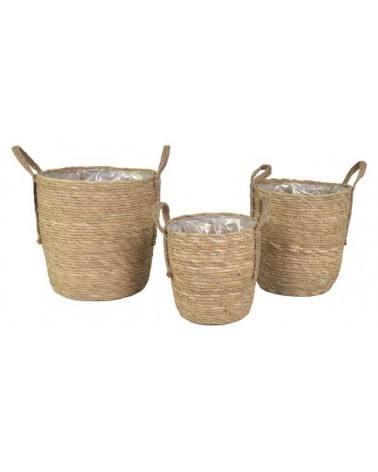 CESTA RED NATURAL SET 3 D24/33H25/35