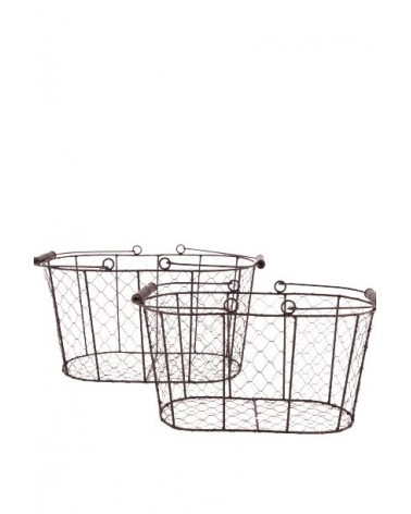 CESTA METAL SET 2 38.5X22X20